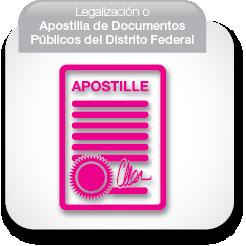 Legalización o Apostilla de Documentos Públicos del Distrito Federal