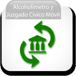 Alcoholímetro y Juzgado Cívico Móvil