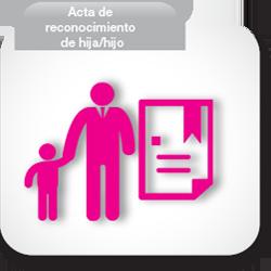 Acta de reconocimiento hijo/hija
