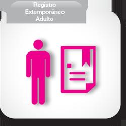 Registro Extemporáneo Adulto