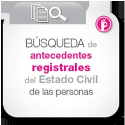 Búsqueda de antecedentes registrales del estado civil de las personas