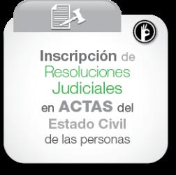 Inscripción de resoluciones judiciales en actas del estado civil de las personas