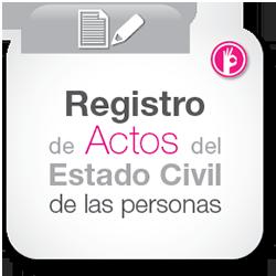 Registro de actos del estado civil de las personas
