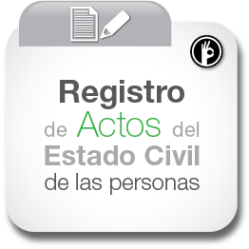 Registro de actos del estado civil de las personas