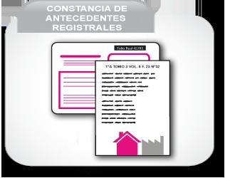 Constancia de Antecedentes Registrales