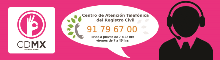 Centro de atencion telefonica del registro civil